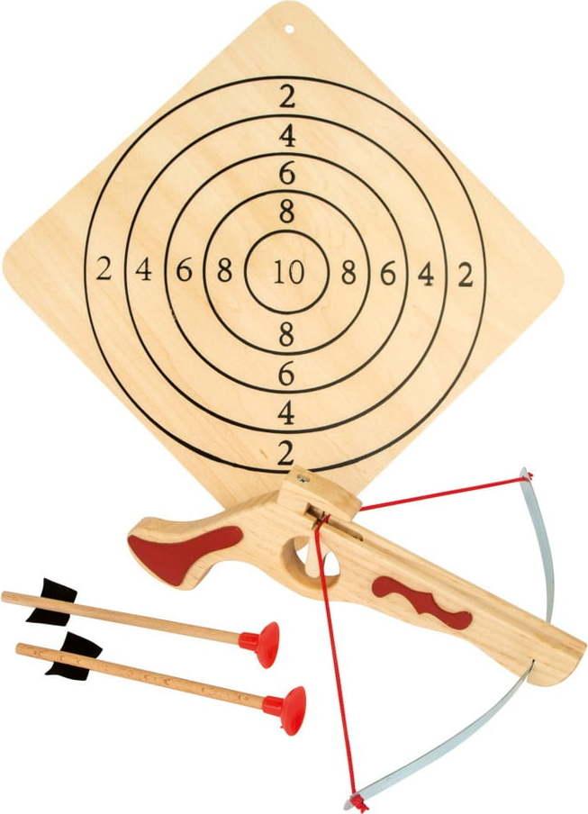 Dřevěná kuše se šípy a terčem Legler Crossbow