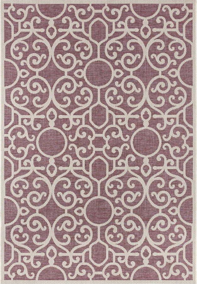 Fialovo-béžový venkovní koberec Bougari Nebo, 160 x 230 cm