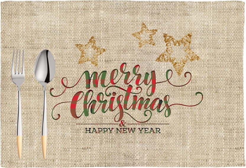 Sada 2 vánočních prostírání Mike & Co. NEW YORK Honey XMas, 33 x 45 cm