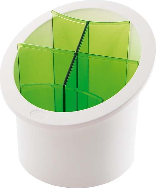 Zelený stojan na příbory Snips Cutlery Miss Sixty