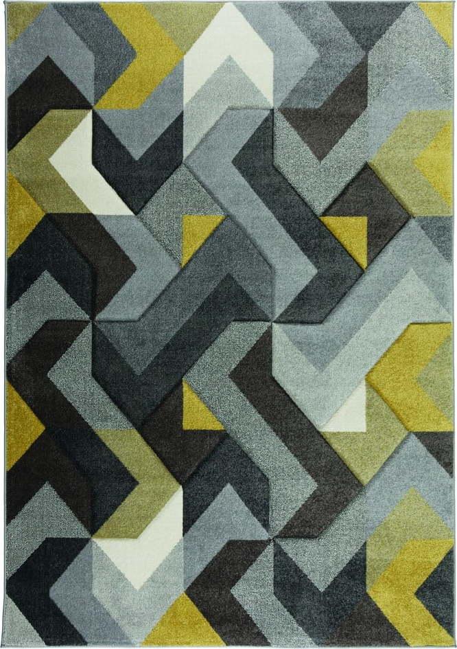 Zeleno-šedý koberec Flair Rugs Aurora, 200 x 290 cm