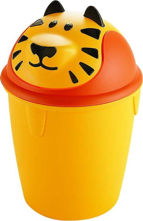 Dětský odpadkový koš CURVER Tiger, 12 l