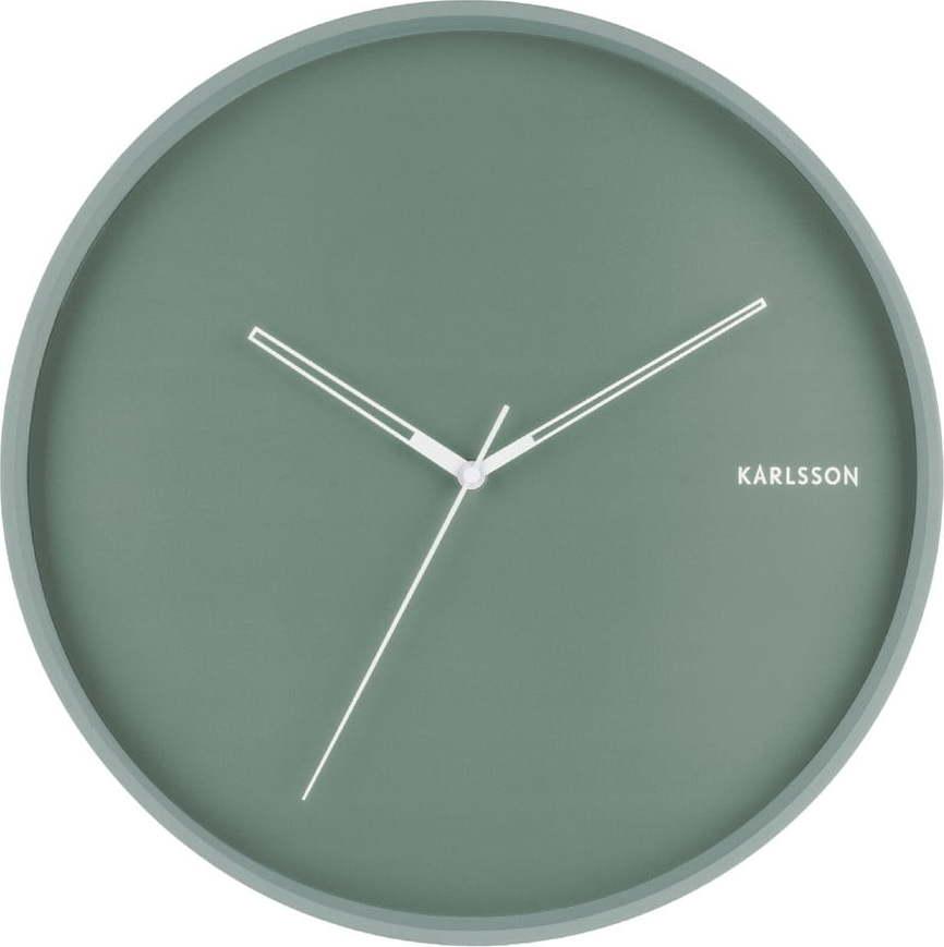 Mátově zelené nástěnné hodiny Karlsson Hue, ø 40cm Miss Sixty