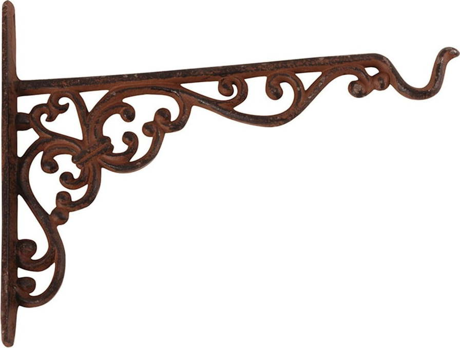 Nástěnná litinová konzole se se závěsem Esschert Design, výška18,8cm