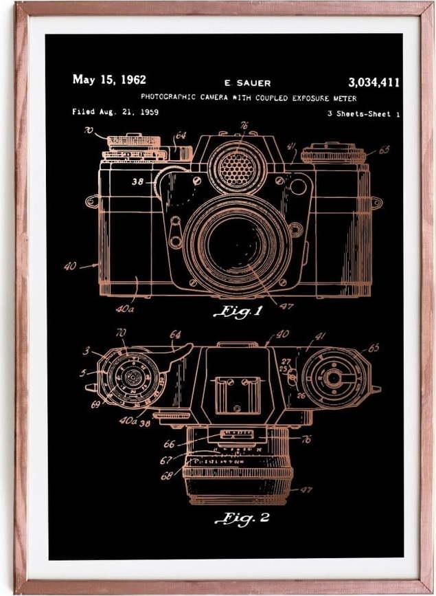Zarámovaný plakát Really Nice Things Camera, 40 x 60 cm
