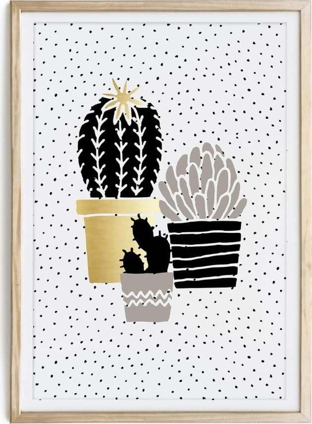 Zarámovaný plakát Really Nice Things Cactus Family, 40 x 60 cm
