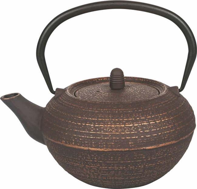 Hnědá litinová konvička na čaj Villa d'Este Hosaka, 800 ml