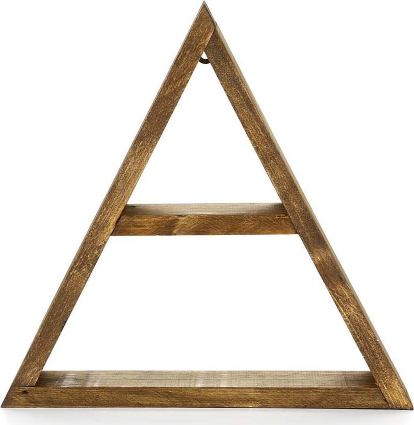 Nástěnná dřevěná police Geometric Miss Sixty