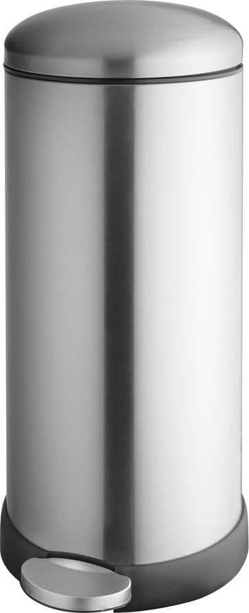 Nerezový odpadkový koš ve stříbrné barvě Addis, výška 68 cm