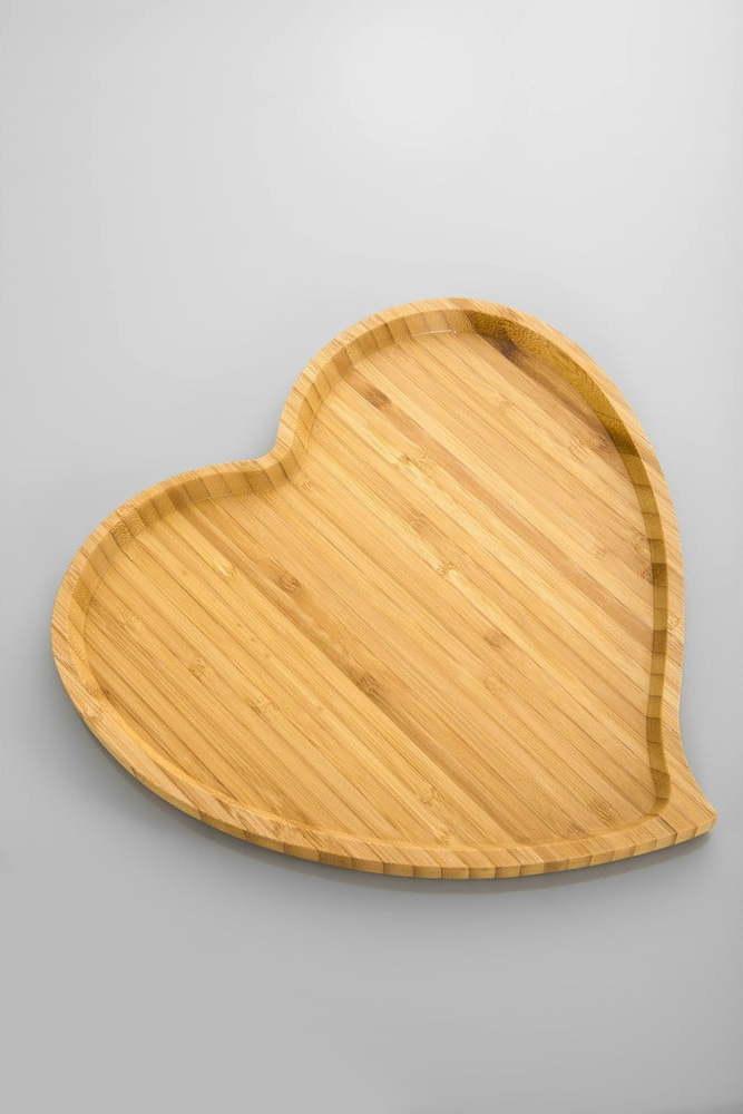 Bambusový servírovací podnos Bambum Amor, 27 cm Miss Sixty
