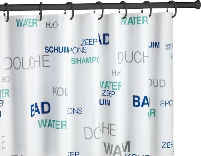 Černá teleskopická tyč na sprchový závěs Wenko Shower Curtain Rod Miss Sixty