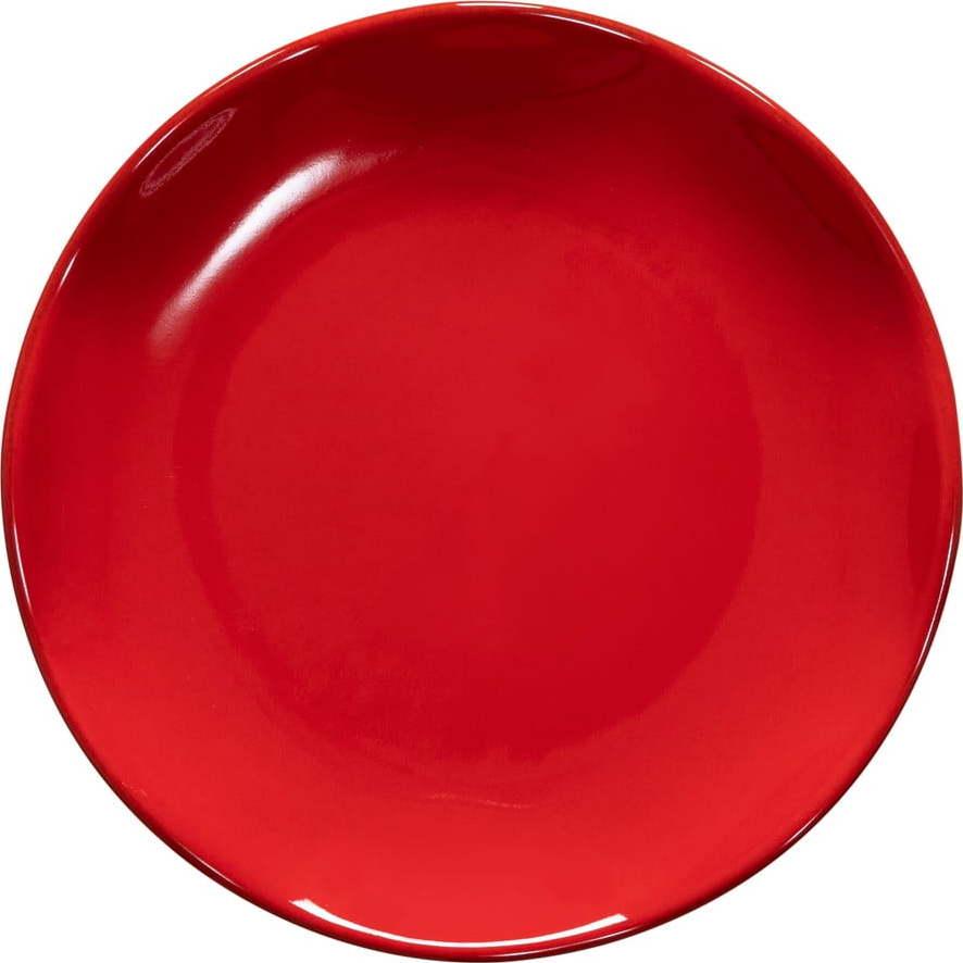 Červený kameninový dezertní talíř Casafina Cook & Host, ø 20,5 cm