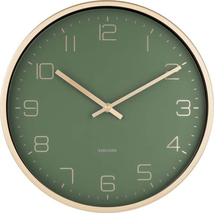 Zelené nástěnné hodiny Karlsson Elegance Miss Sixty
