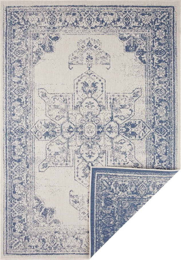 Modro-krémový venkovní koberec Bougari Borbon, 200 x 290 cm