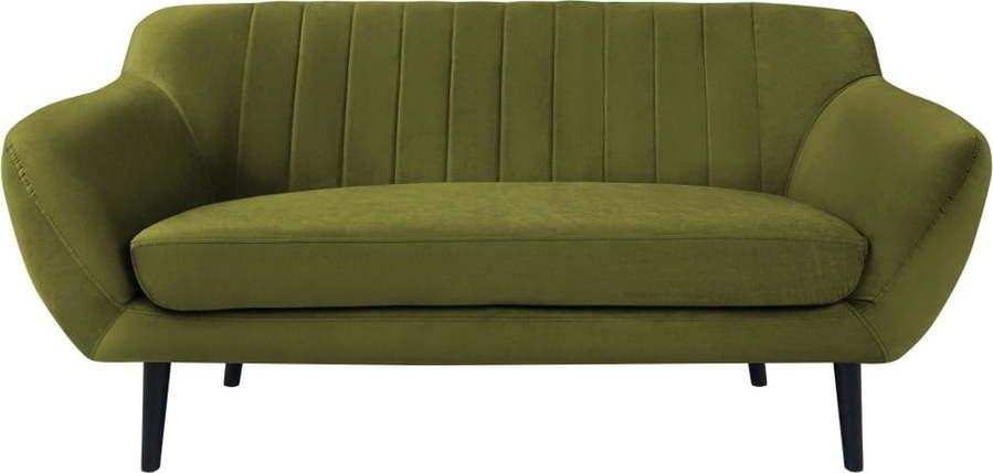Zelená pohovka pro dva Mazzini Sofas Toscane, černénohy