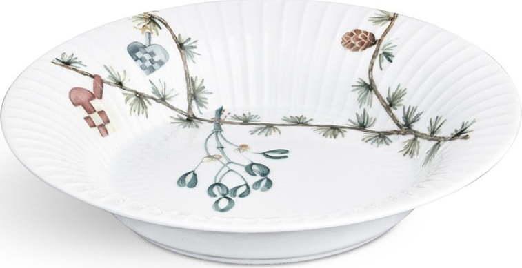 Bílý porcelánový vánoční polévkový talíř Kähler Design Hammershoi, ⌀ 21 cm Miss Sixty