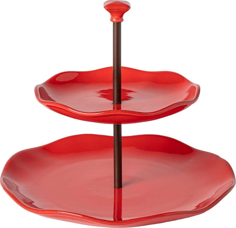 Červený kameninový etažér Casafina Cook & Host, 29 x 24,5 cm