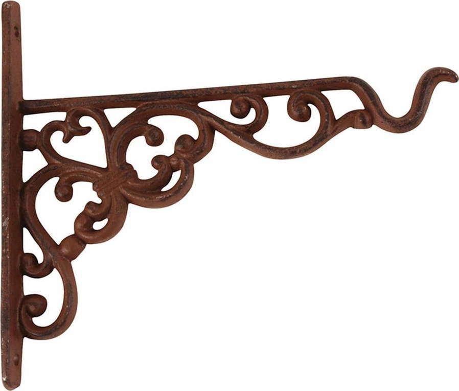 Nástěnná litinová konzole se závěsem na květináč / krmítko Esschert Design, výška17,8cm