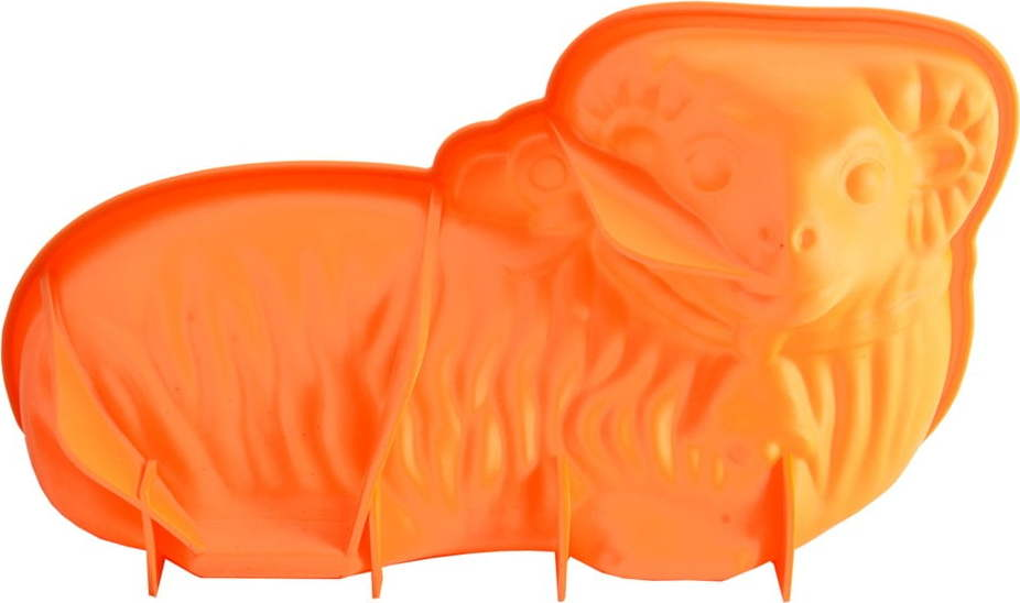 Oranžová silikonová forma na beránka Orion Easter, 31 x 17 cm