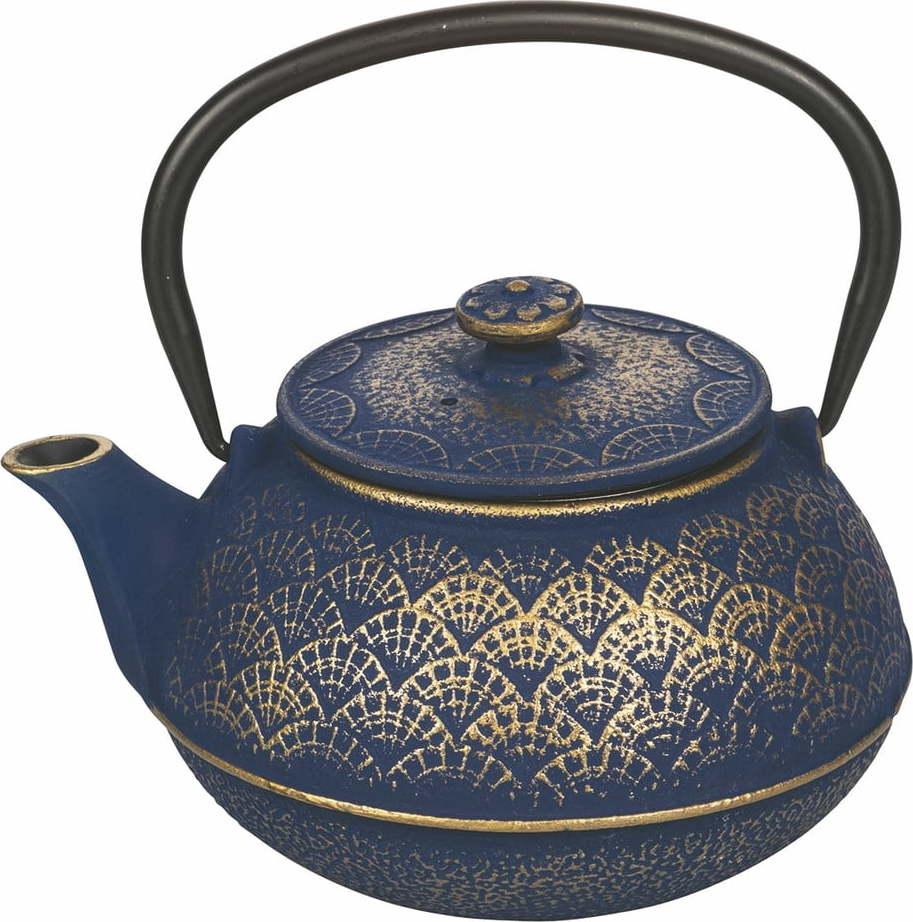 Modrá litinová konvička na čaj Villa d'Este Hosaka, 800 ml