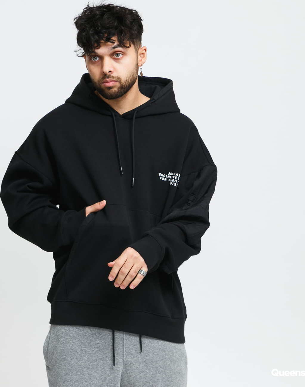 Jordan M J 23 Engineered Fleece PO Hoody černá XXL