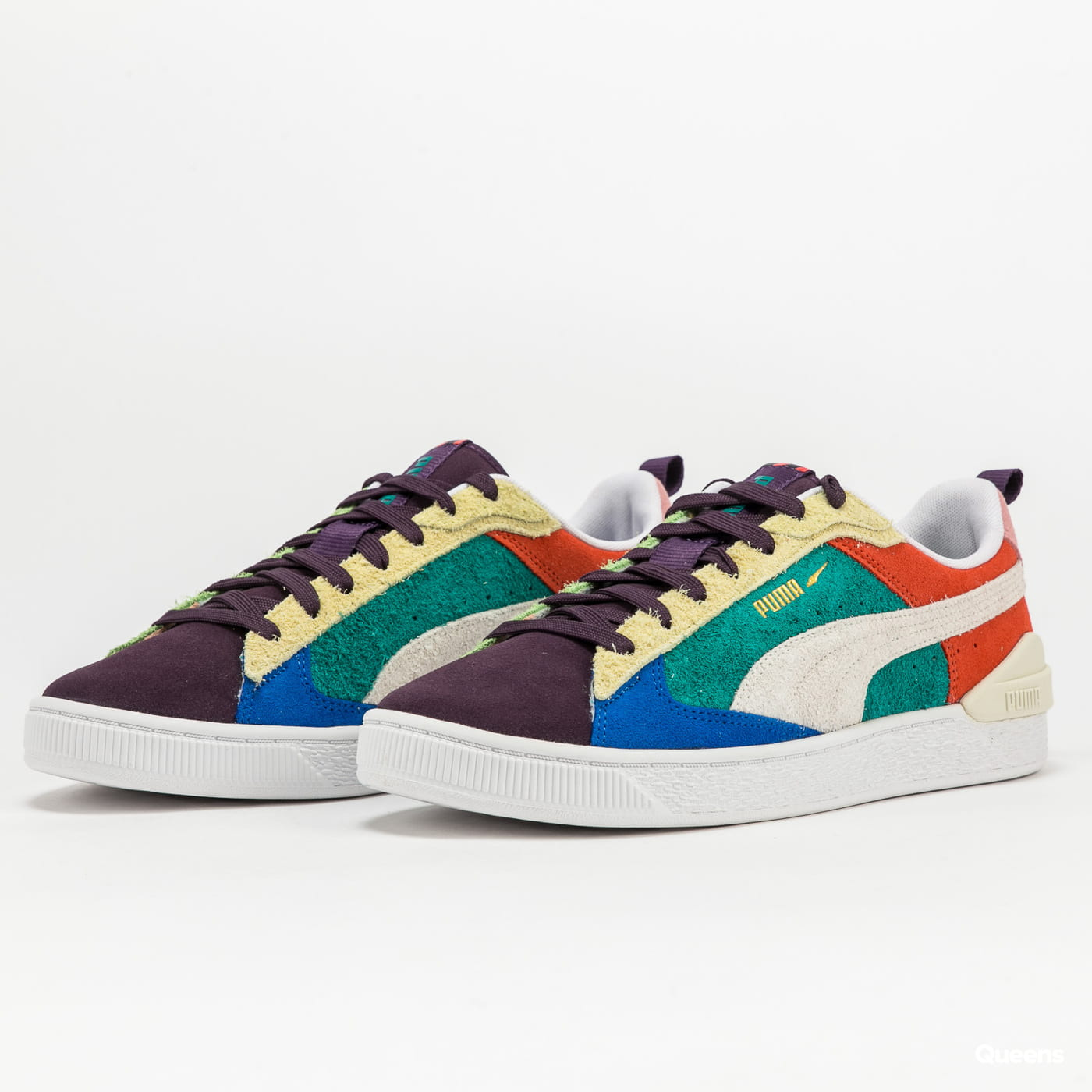 Puma Suede Bloc WTFormstripe sweet grape - whisper white EUR 46