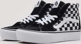 E-shop Vans SK8-HI Platform 2 checkerboard / true white EUR 38