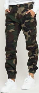Urban Classics Ladies High Waist Camo Cargo Pants camo zelené 31