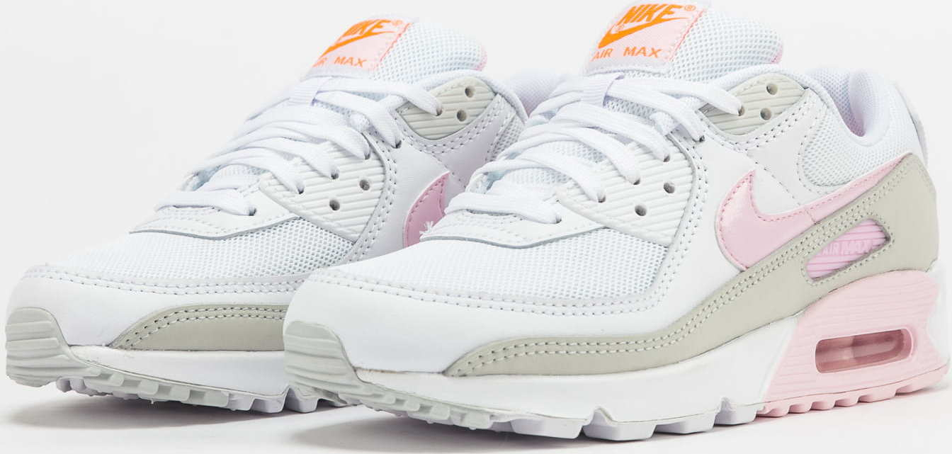 Nike WMNS Air Max 90 white / pink foam - total orange EUR 42