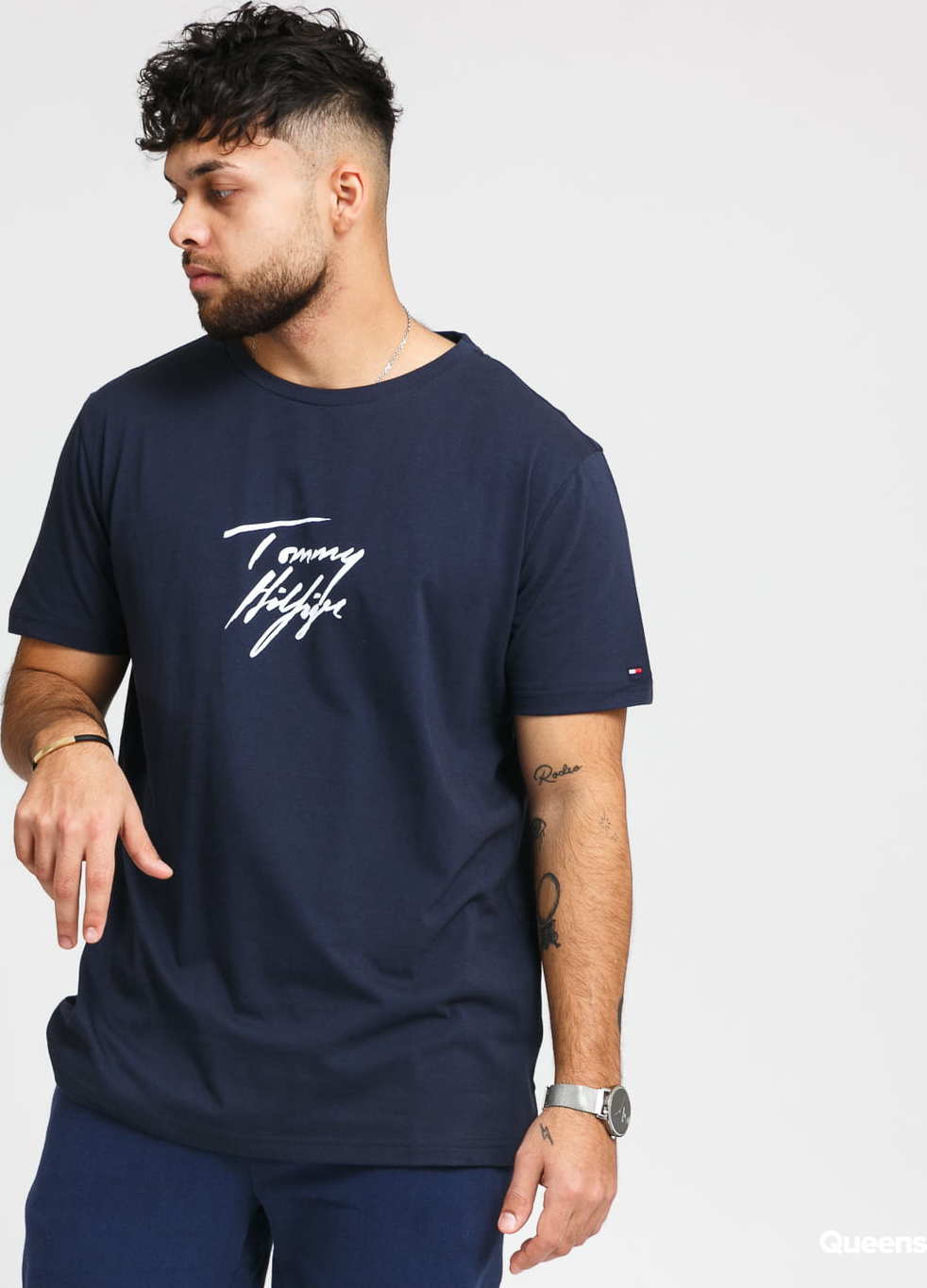 Tommy Hilfiger CN SS Tee Logo navy M