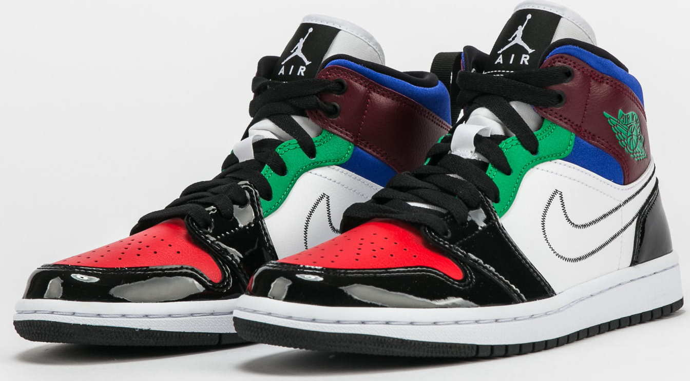 Jordan WMNS 1 Mid SE black / white - university red EUR 42.5