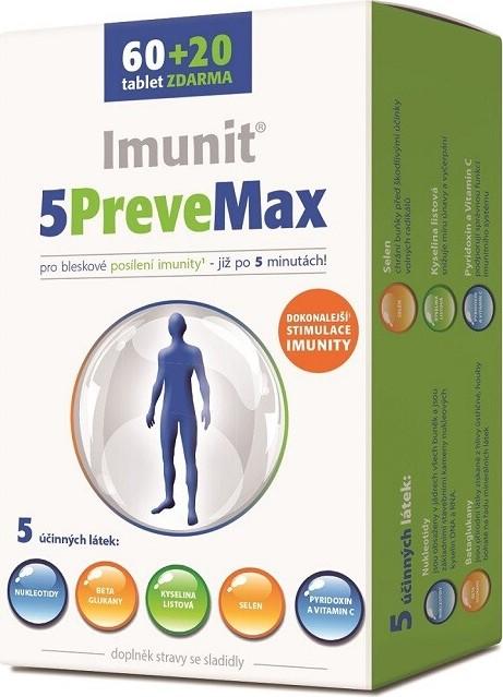 5PreveMax Imunit nukleotidy+betaglukan tbl. 60+20
