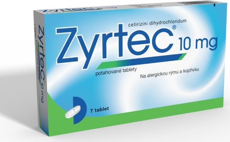 ZYRTEC 10MG potahované tablety 7