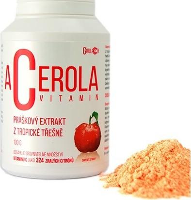 Levně Acerola vitamin standardizovaný prášek 100g