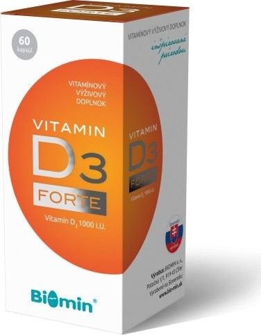 Biomin VITAMIN D3 FORTE 1000 I.U. 60 tob.